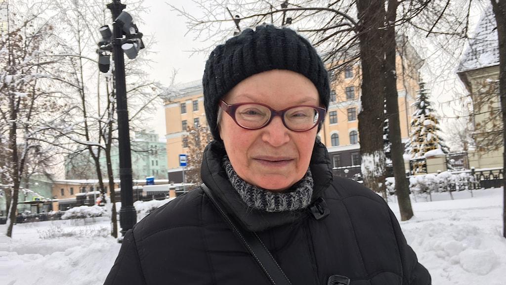Moskvabon och pensionären Tamara Bestjetnikova vill aldrig ha någon annan ledare än Vladimir Putin.