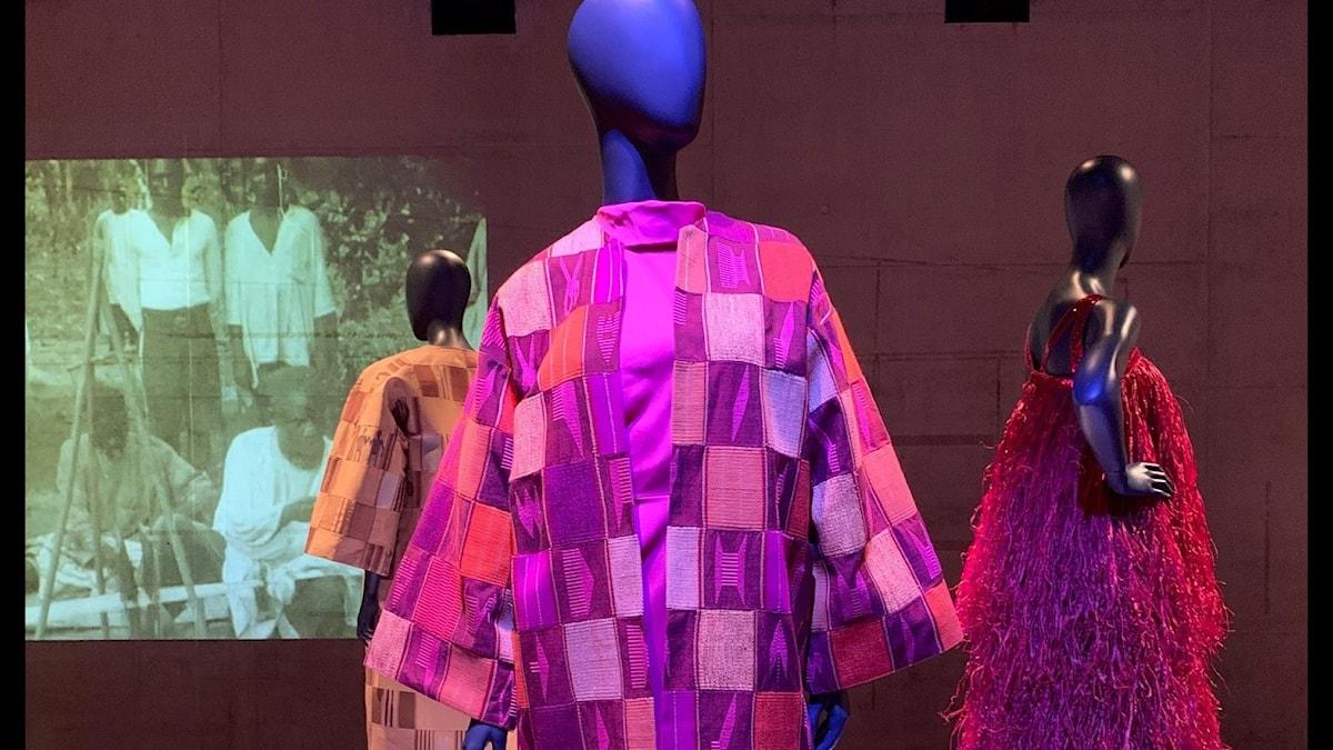"""Från utställningen """"Svarta tråden"""", designer Imane Ayissi."""