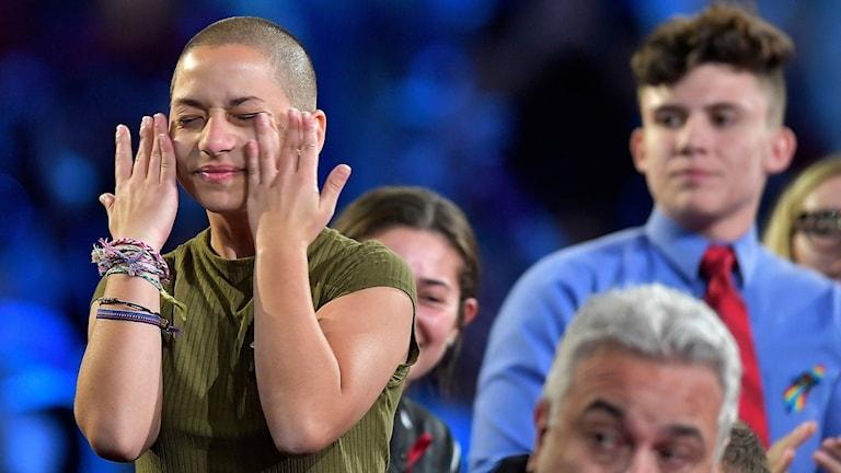 Emma González, elev som överlevde skolskjutningen i Parkland, Florida har engagerat sig mot vapen
