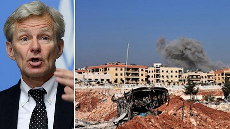 Jan Egeland och ett bombat Aleppo.