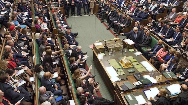 Debatt i det brittiska underhuset under onsdagen.