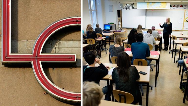 Lo-logga och klassrum
