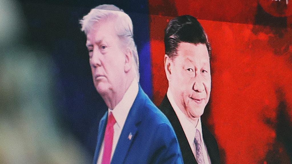 Kinas president Xi Jinping och USA:s president Donald Trump
