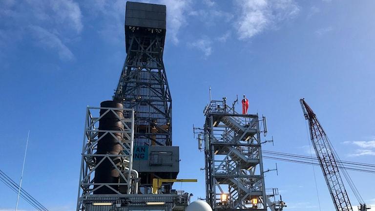 Tornet tillhör oljeriggen Rowan Viking, som är inhyrd för att sköta borrningen på Edvard Grieg-fältet.