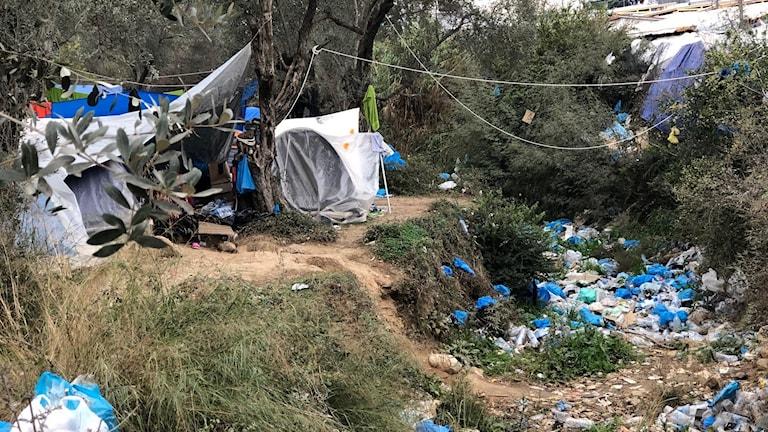 I flyktinglägret Moria på Lesbos har man aldrig haft så många boende som nu.