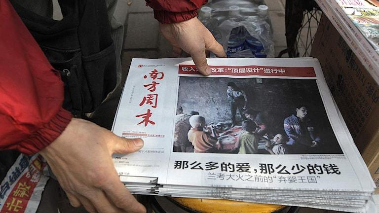 USA och dess västliga allierade anklagas för att agera som domare, jury och bödel i en av de kinesiska tidningarna.Foto: Vincent Yu/Scanpix.