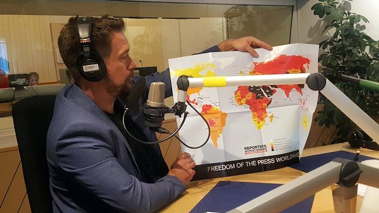 Erik Halkjaer, ordförande på Reportrar utan gränser i Sverige