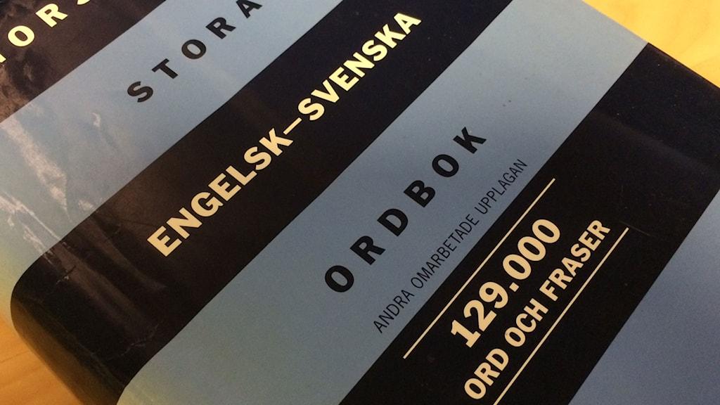 Engelsk-svensk ordbok.