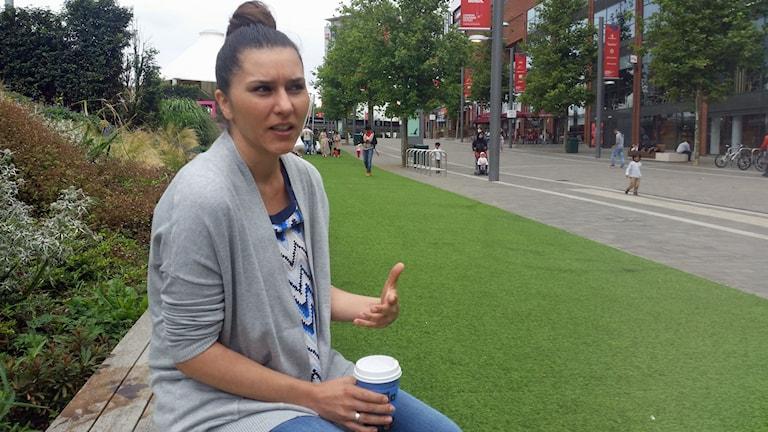 Polskan Aleksandra Gren stortrivs med sitt jobb som sjuksköterska men hon beskriver det som utmanande.