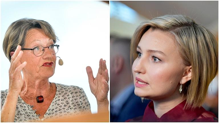Gudrun Schyman och Ebba Bush Thor.