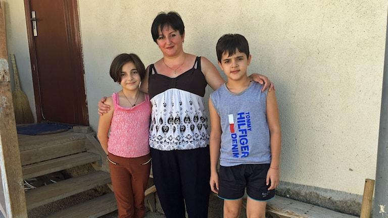 Sjorena Kachniasjvili och hennes familj flydde från sitt hem i Sydossetien i samband med kriget och har fortfarande inte kunnat återvända.