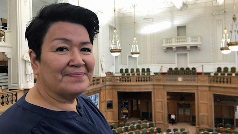 grönländska folketingsledamoten Aleqa Hammond från partiet Nunatta Qitornai