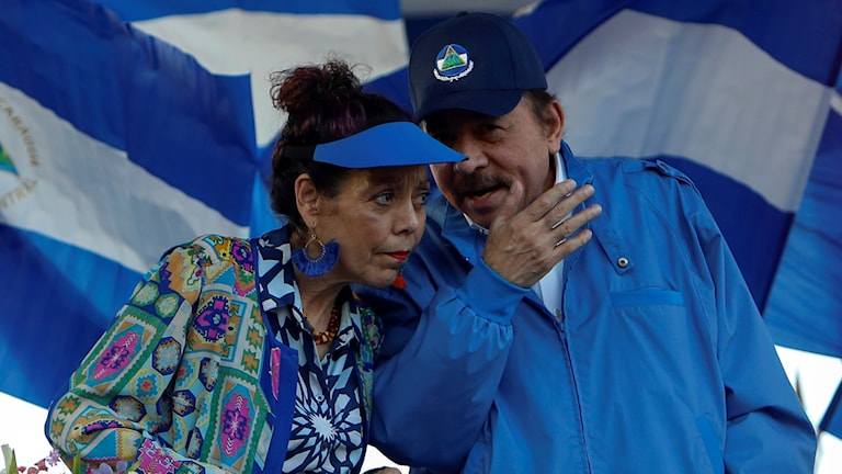 President Daniel Ortega och hans hustru vicepresidenten Rosaria Murillo.