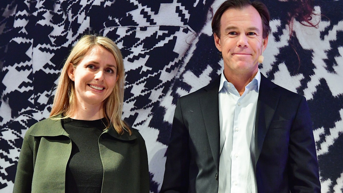 Helena Helmersson och Karl-Johan Persson.