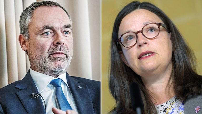 Jan Björklund, partiledare (L) och Anna Ekström, gymnasie- och kunskapslyftsminister (S).