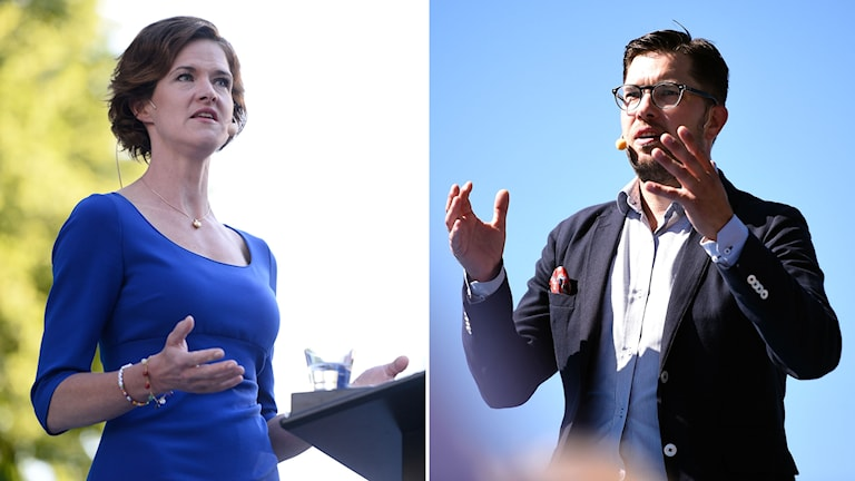 Anna Kinberg Batra Moderaternas partiledare och Jimmie Åkesson Sverigedemokraternas partiledare