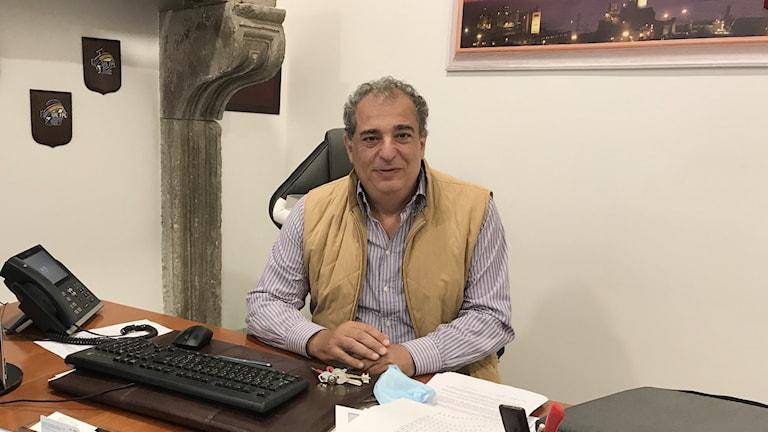 Michelangelo Librandi är ordförande för sjuksköterskefacket UIL-FPL i Rom.