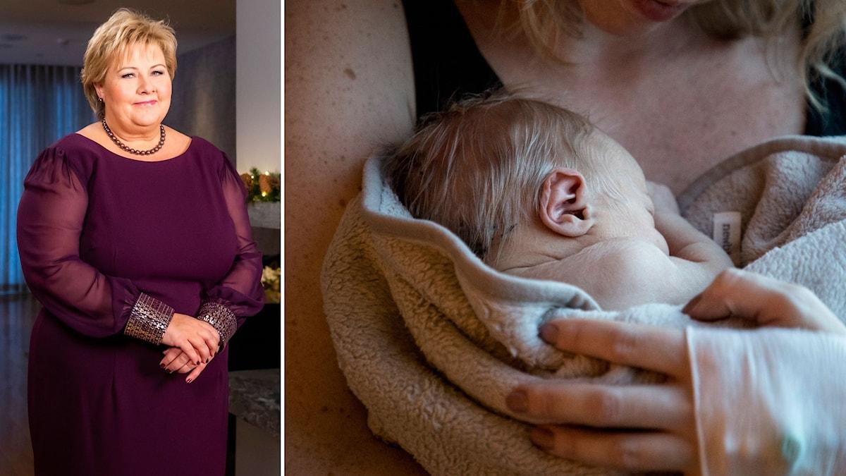 Norska statsministern Erna Solnerg (H), uppmanade i sitt nyårstal norrmännen att skaffa flera barn.