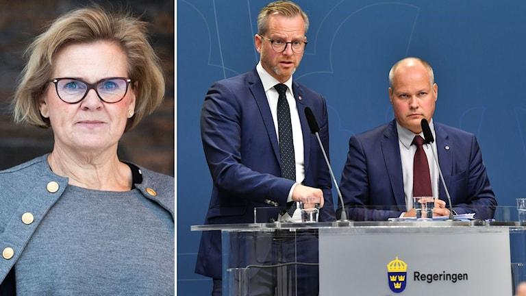 Riksåklagare Petra Lundh kommenterar inrikesminister Mikael Damberg (S) och justitieminister Morgan Johansson (S) möte med riksdagspartierna om hur gängvåldet ska kunna stoppas.