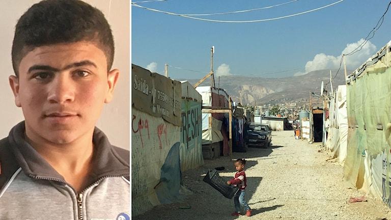 15-årige Mohammed flydde IS i Raqqa och bor nu på ett provisoriskt flyktingläger i Bekaadalen i Libanon.
