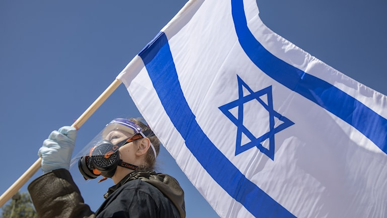 Israeliska flaggan.