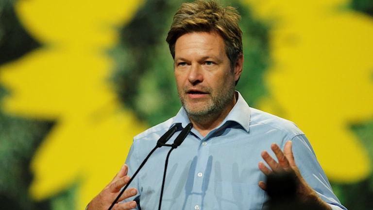 Tyska De Grönas partiledare Robert Habeck.