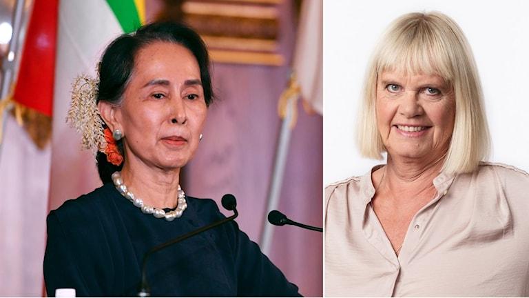 Aung San Suu Kyi och Margita Boström.