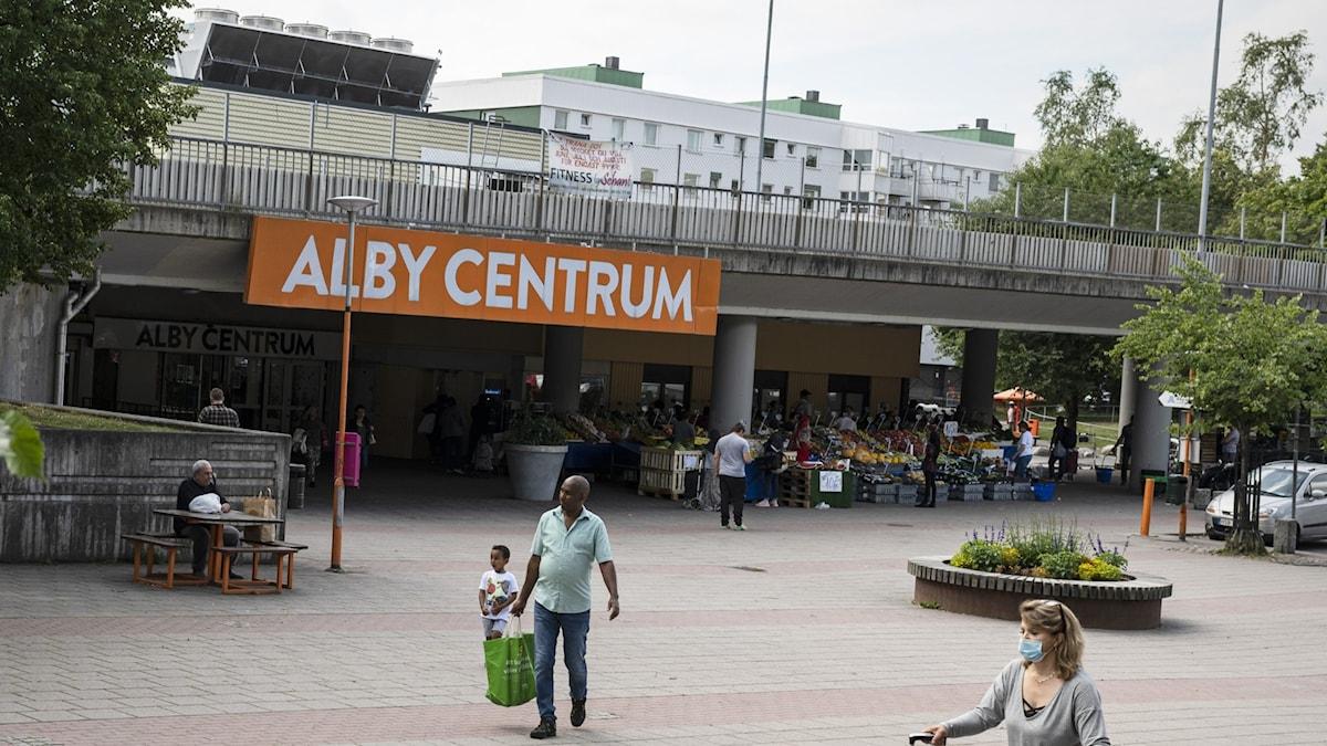 Alby centrum.