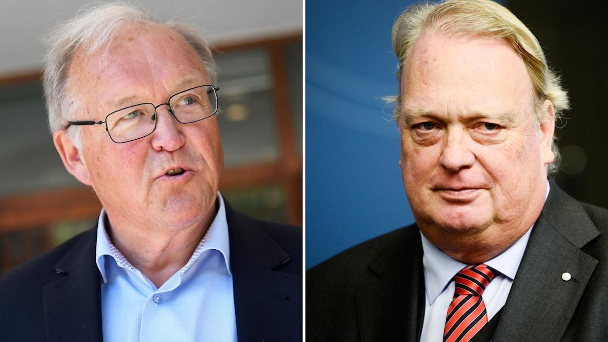Göran Persson, tidigare statsminister (S) och Mikael Odenberg, tidigare försvarsminister (M).