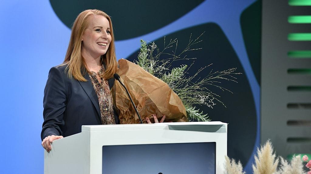 Partiledare Annie Lööf valdes som ordförande när Centerpartiet inledde sin partistämma i Sigtuna på torsdagen.