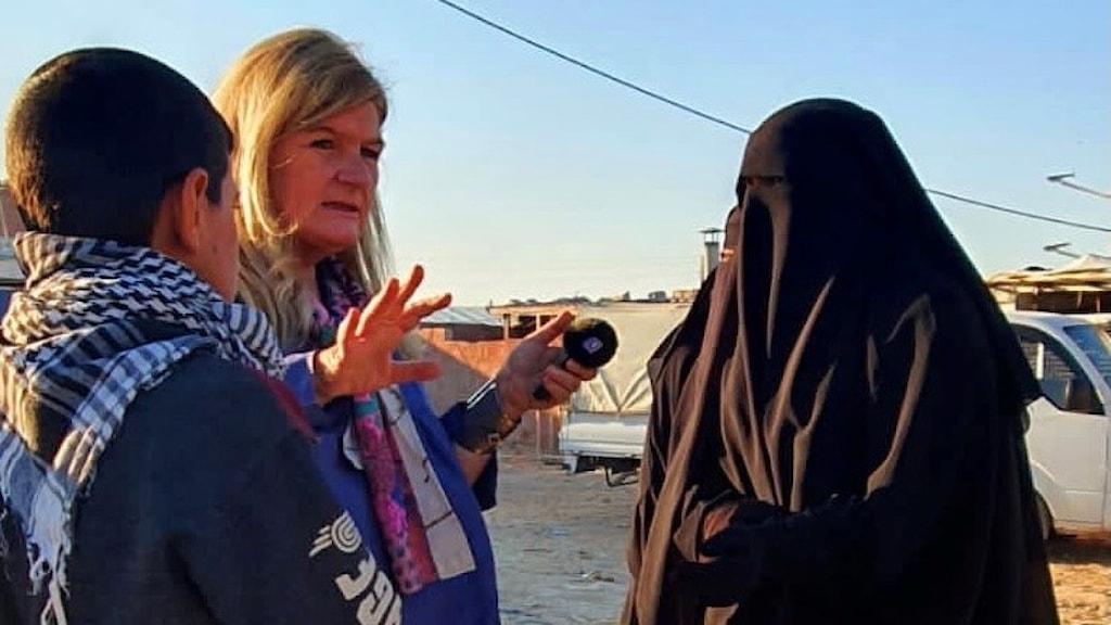 Cecilia Uddén i Al Hol lägret