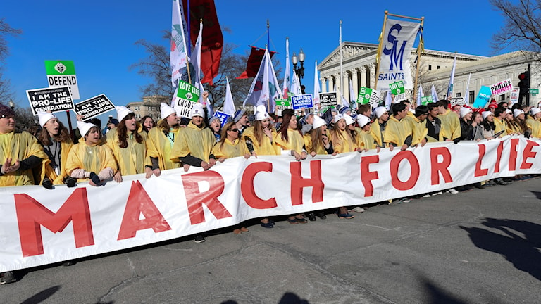 Bild från March for Life 2018.