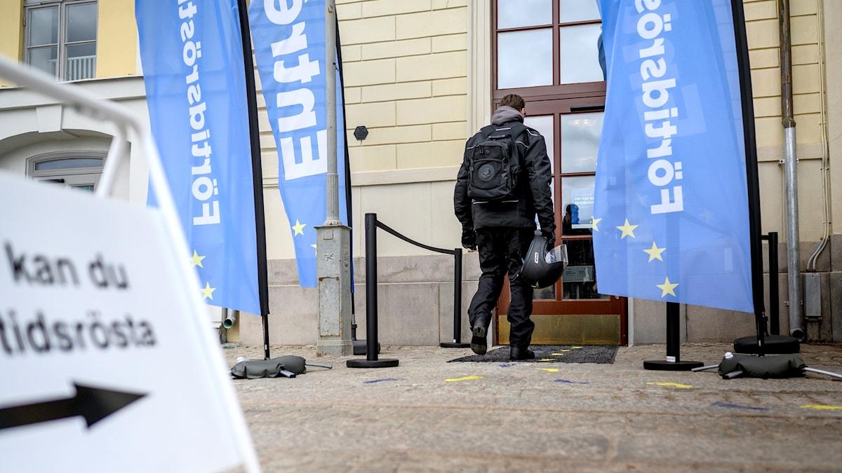 Förtidsröstning EU-valet.