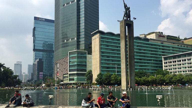 """Monumentet """"Välkommen"""" mitt i centrala Jakarta"""