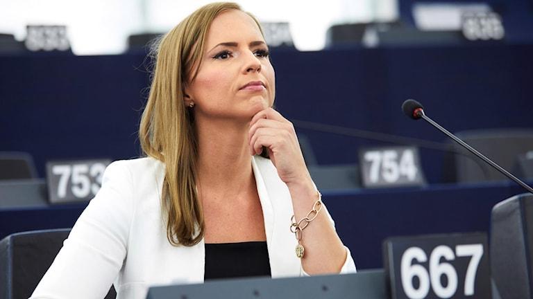 Sara Skyttedal i Eu-parlamentet.