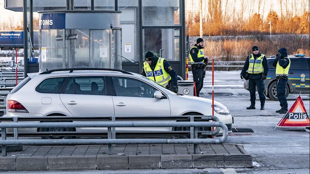 Gränskontroll mellan Sverige och Danmark