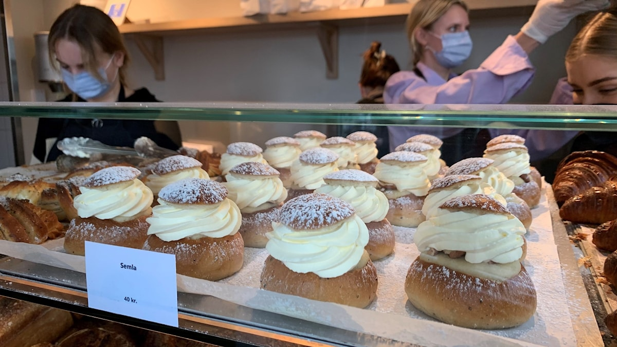 Semlor på café i Danmark