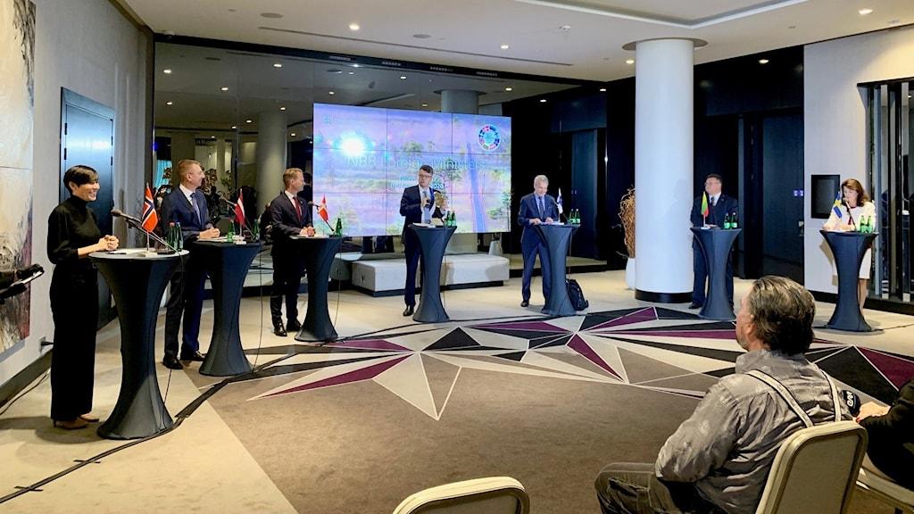 De nordiska och baltiska utrikesministrarna vid ett möte i Tallinn.