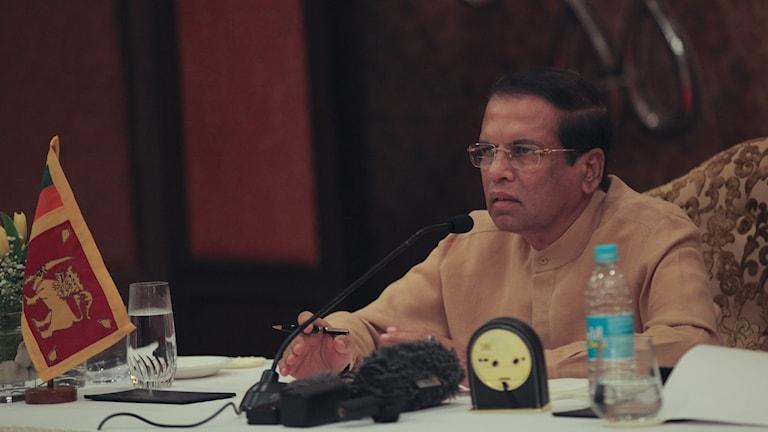 Sri Lankas president Maithripala Sirisena