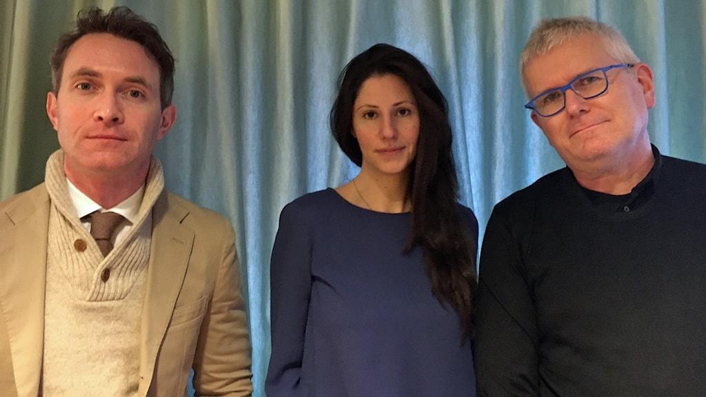 Douglas Murray, Paulina Neuding och Per Wirtén.