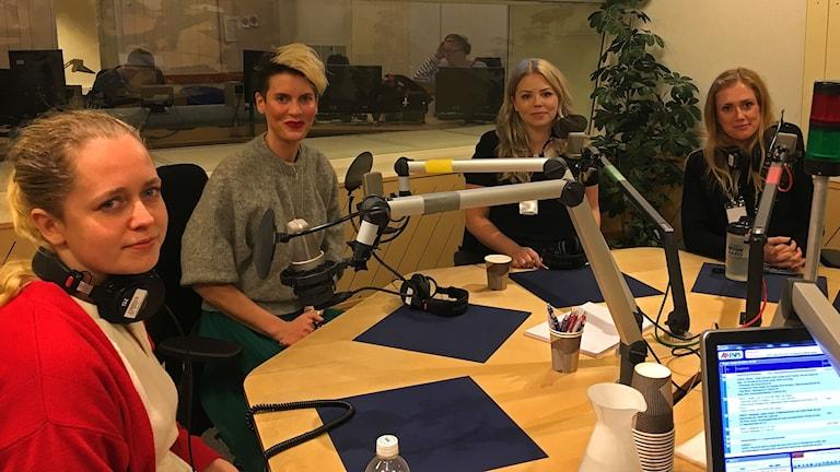 #metoo Viola Nilsson, Nina Rung, Carolin Solskär och Gabriella Ohlzon.