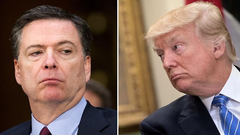 Comey och Trump.