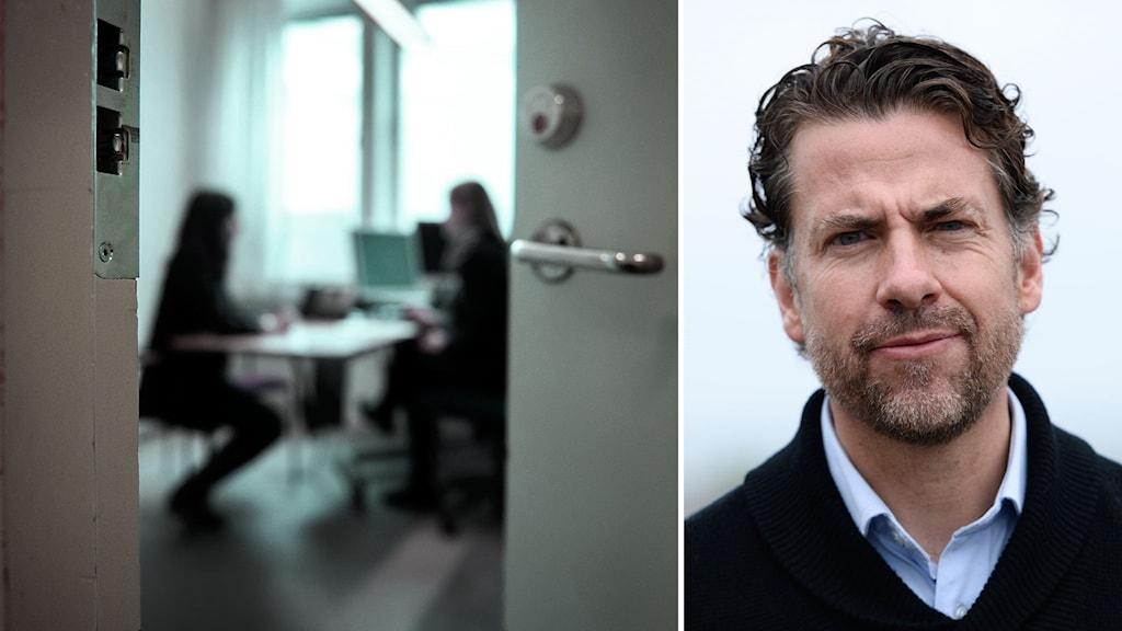 arbetsmiljö migrationsverket i montage med Mikael Ribbenvik