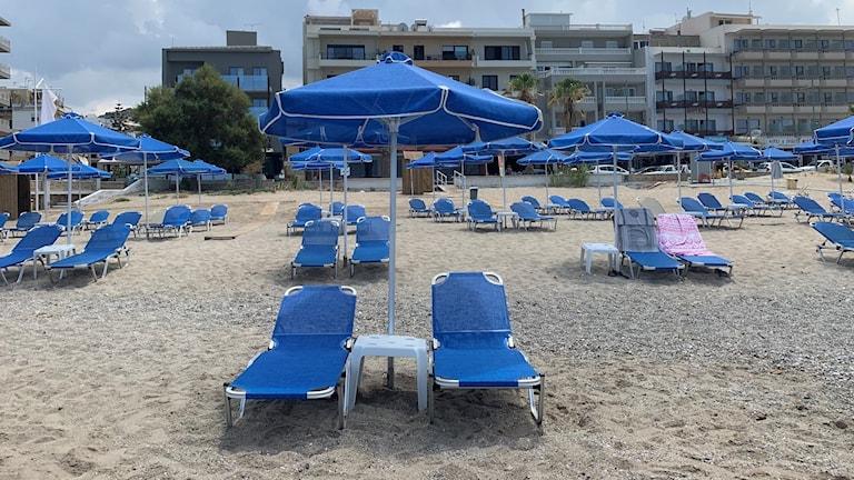 Stranden i Rethymnon.