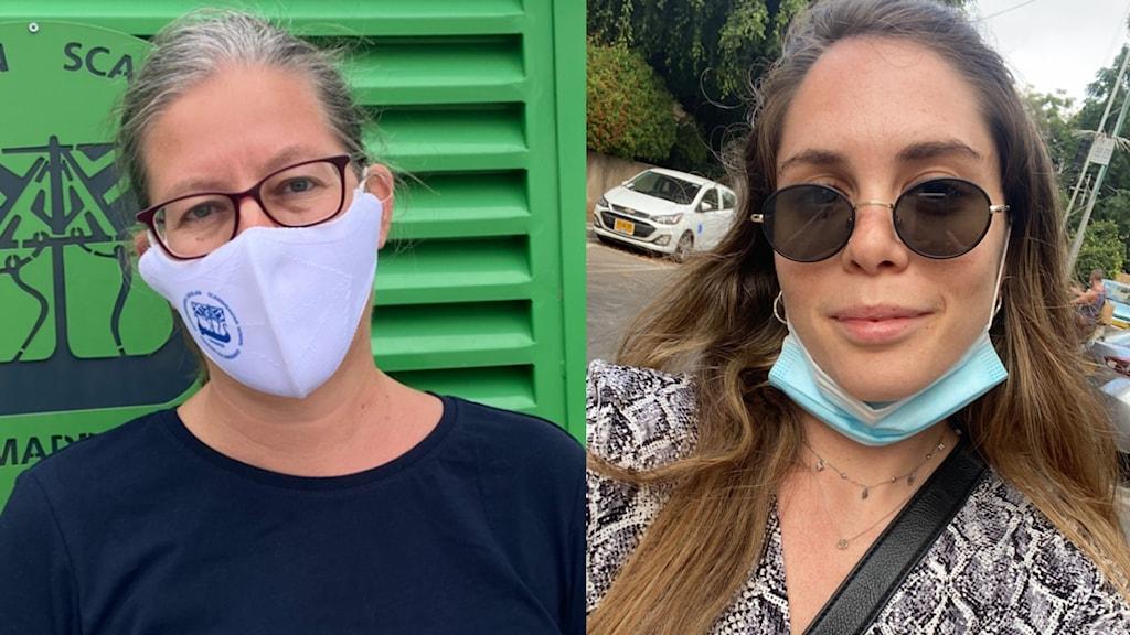 Jenny Dettmer, rektor för svenska skolan och boende i Madrid och Alice Hüttner, boende i Israel. Foto: Privat.