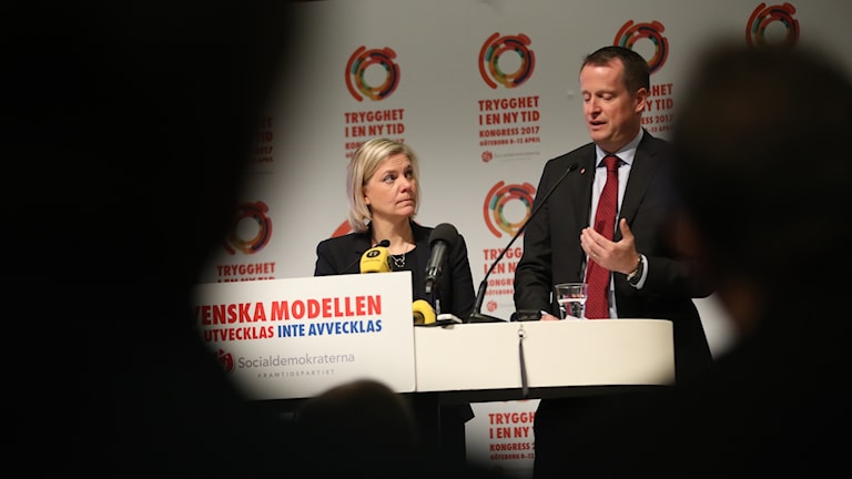 Finansminister Magdalena Andersson och inrikesminister Anders Ygeman.