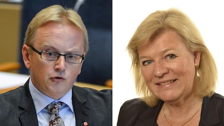 Kollage med  Fredrik Olovsson Maria Plass.