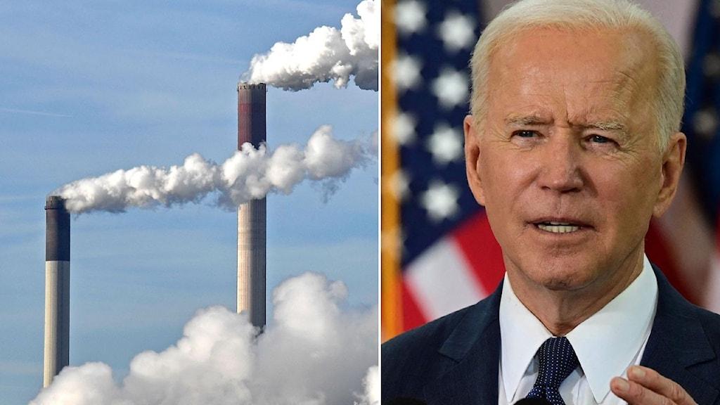,rök ur skorstenar och usa:s president Biden