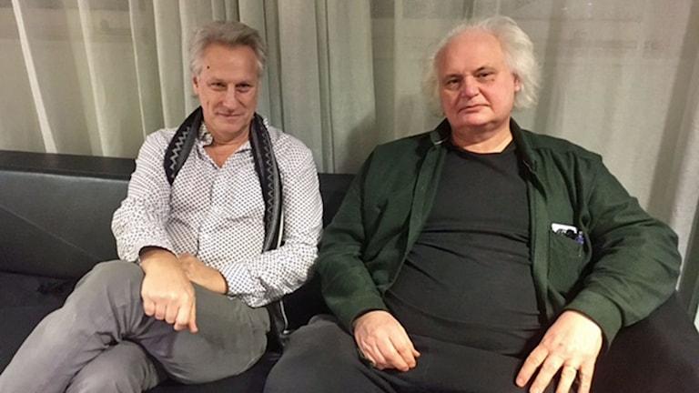 Lars Trädgårdh, professor i historia och Göran Greider, författare och debattör.