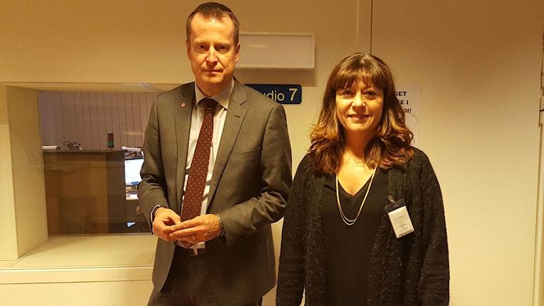 Anders Ygeman och Lise Tamm